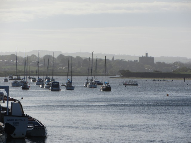 Warkworth Castle, from Amble Harbour