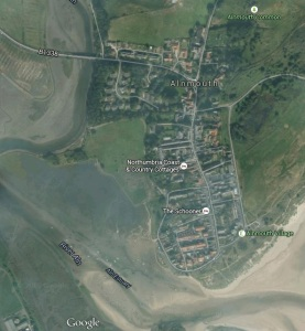 Google maps view of Alnmouth