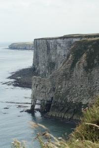 A view along the cliffs