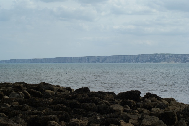 Filey Brigg, looking South across the bay to Bempton
